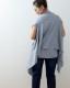 オーガニックコットン 羽織れるスト−ル 大判 ガーゼ天竺 ネイビー 日本製 blissful/ブリスフル