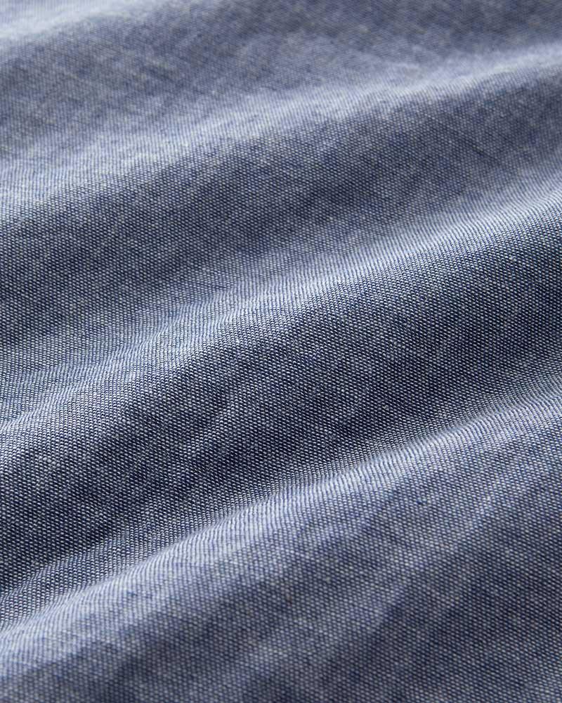 【50%OFF】インディゴ染め ダブルガーゼ チュニックシャツ 半袖(6分袖) レディース  インディゴ 日本製 blissful/ブリスフル