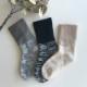 ふんわり あったか靴下 綿 シルク  パイル編み ルームソックス 冷え対策 日本製 blissful/ブリスフル