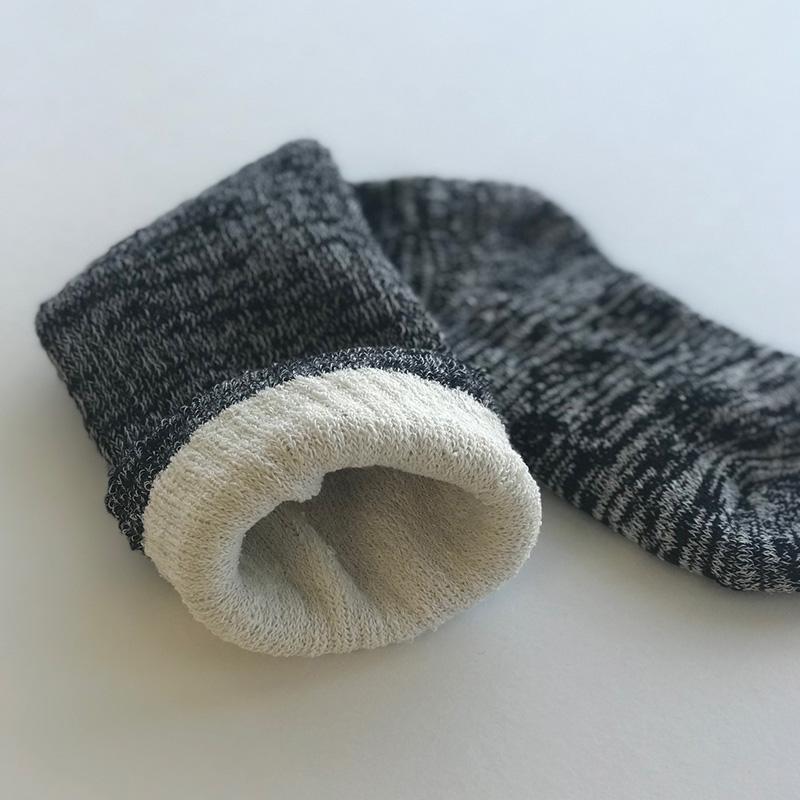 ふんわり 冷え対策 靴下 綿 シルク 二重編み ロング丈  レッグウォーマーソックス 日本製 blissful/ブリスフル