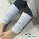 ふんわり あったか レッグウオーマー 綿 シルク 二重編み 冷え対策 日本製 blissful/ブリスフル