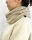 カシミヤ100% ねじりスヌード リバーシブル オフホワイト×杢ベージュ 日本製 男女兼用 あったかギフト blissful/ブリスフル