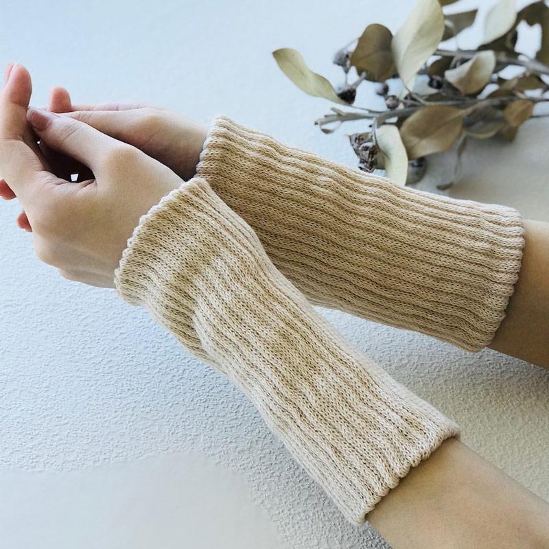 綿 シルク 二重編み ショート丈レッグウオーマー マルチウオーマー 冷え対策 あったかギフト 日本製 blissful/ブリスフル