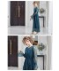総チュールレースワンピースドレス