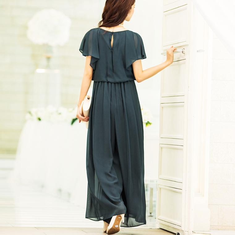 オールインワン ワイドパンツドレス