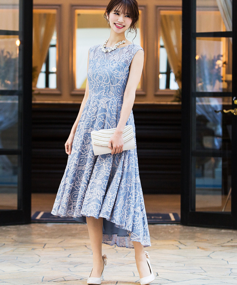 レースフィッシュ&テールワンピースドレス