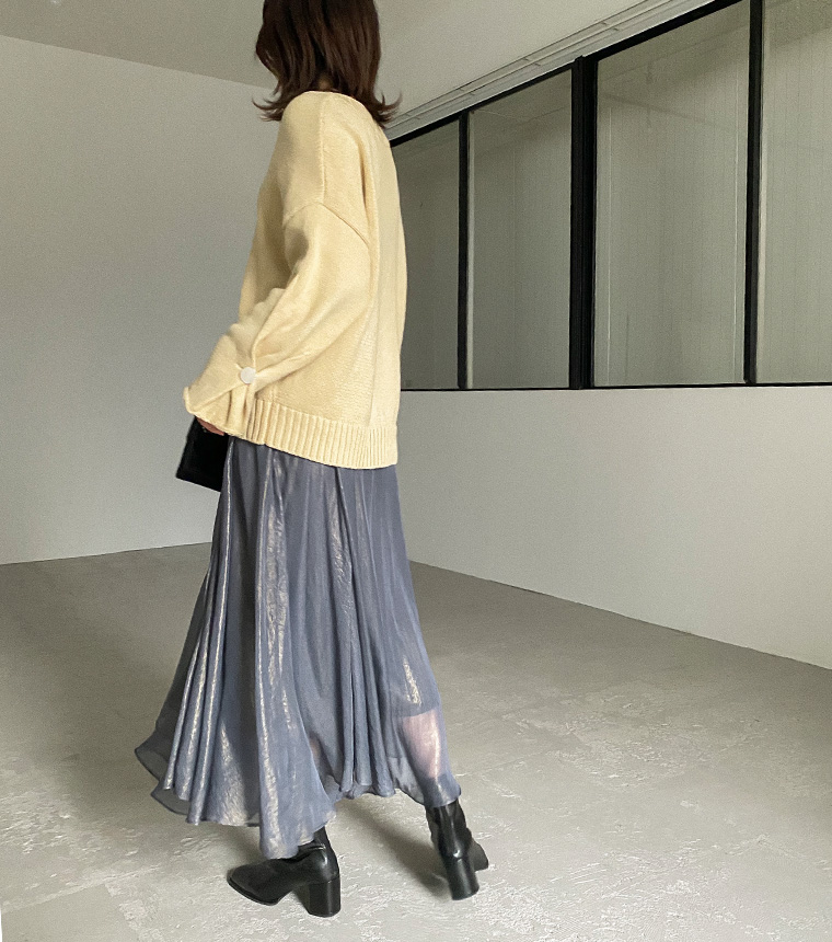 光沢シアースカート