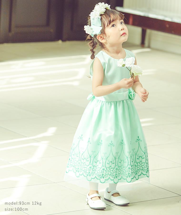 ウエストリボンキッズドレス