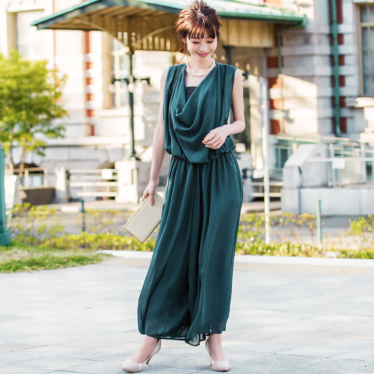 オールインワン パンツドレス