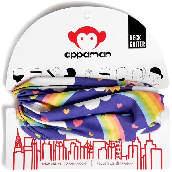 APPAMAN/アパマン ネックゲイター フェイスマスク Rainbow
