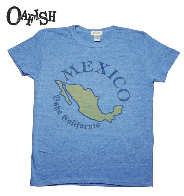 OAFISH MEXICO ショートスリーブTシャツ メンズ H-BLUE