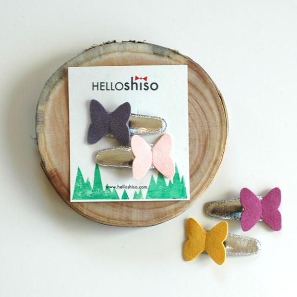 HELLO shiso/ハローシソ バタフライクリップ 2個セット