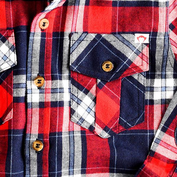 APPAMAN/アパマン フランネルシャツ|Scarlet Plaid