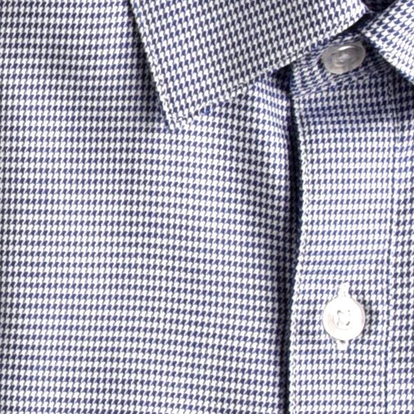 APPAMAN/アパマン スタンダードシャツ|Navy Houndstooth