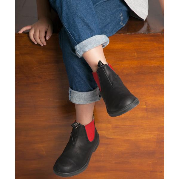 Blundstone/ブランドストーン サイドゴアブーツ#581 キッズ BLACK/RED