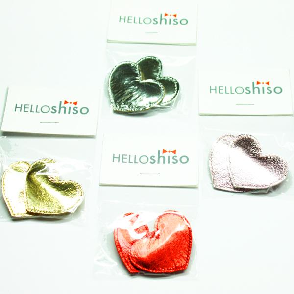 HELLO shiso/ハローシソ ビッグハートクリップ 2個セット