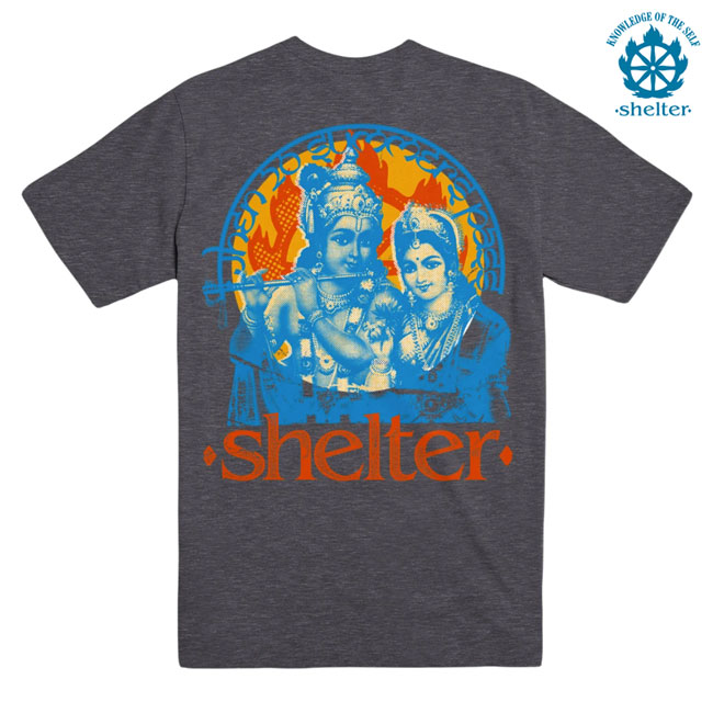 SHELTER / シェルター -WHEN 20 SUMMERS PASS Tシャツ (チャコール)