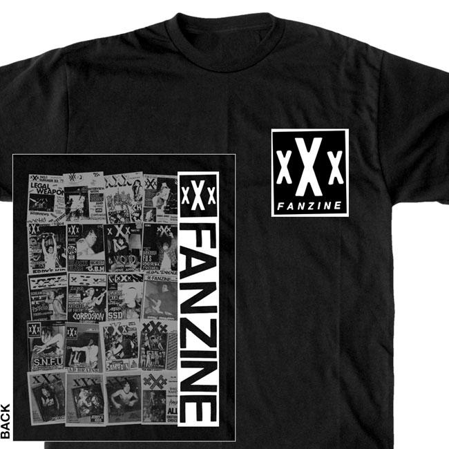 xXx FANZINE - Collage Tシャツ (ブラック)