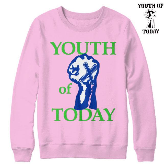 Youth Of Today / ユース・オブ・トゥデイ - Fist Pink クルーネック・トレーナー(ピンク)