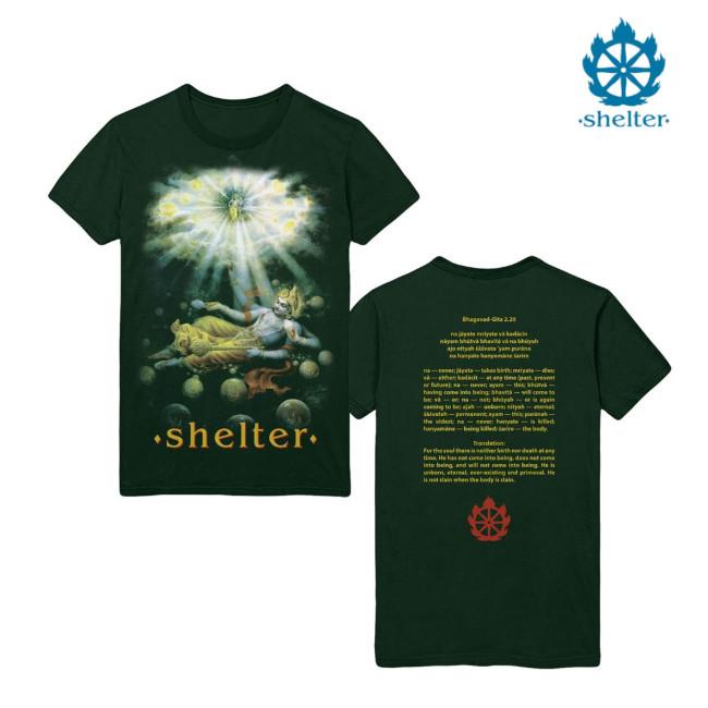 Shelter /シェルター - Mantra Tシャツ(グリーン)
