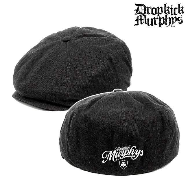 Dropkick Murphys/ドロップキック・マーフィーズ - Boston's Finest Newsboy ハット・キャスケット (ブラック)
