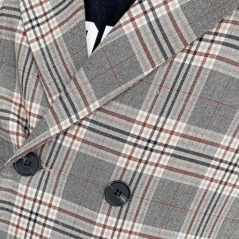 【店内全品送料無料】セットアップ メンズ 長袖 ダブル カジュアルスーツ 上下セット チェック テーラード 韓国 ファッション  おしゃれ 大きいサイズ 結婚式 オシャレ  デザインスーツ 2ピース パーティー 二次会 モード系 韓国系