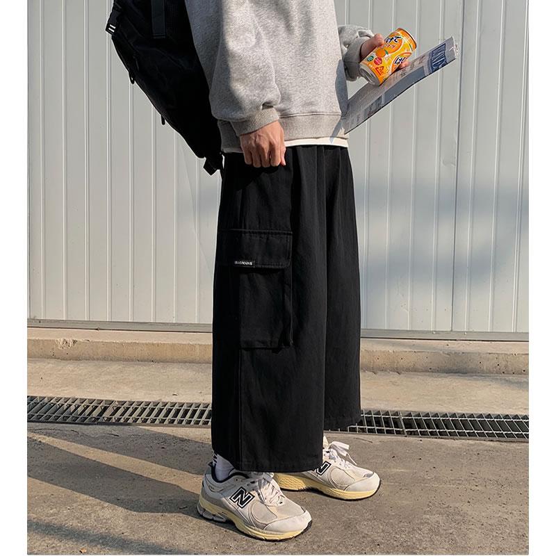 クロップドパンツ カーゴパンツ カーゴハーフパンツ バギー 九分丈パンツ  ワイドパンツ リラックスパンツ  ドカン  ガウチョパンツ フレアパンツ  ボトムス 個性 夏 秋 春 モード  メンズファッション カジュアル トレンド メンズ レディース ユニセックス 大きいサイズ