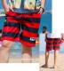 【店内全品送料無料】水着 ビーチパンツ 海パン ボーダー 水陸両用 海水パンツ サーフ サーフショーツ 海水浴 プール 温泉 カジュアル ボトムス メンズファッション 大人 アメカジ メンズ 短パン ボトムス 夏  サマー 速乾