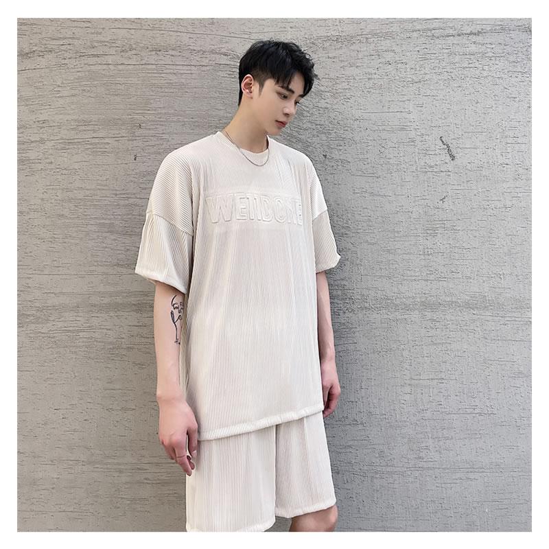 セットアップ メンズ 夏 韓国 ファッション  ティーシャツ  セットアップ メンズ レディース ユニセックス 男女兼用 ゆったり  涼しい ショートパンツ 上下セット  ハーパン ハーフパンツ ショーツ  夏 春 衣装 カジュアル おしゃれ 大きいサイズ
