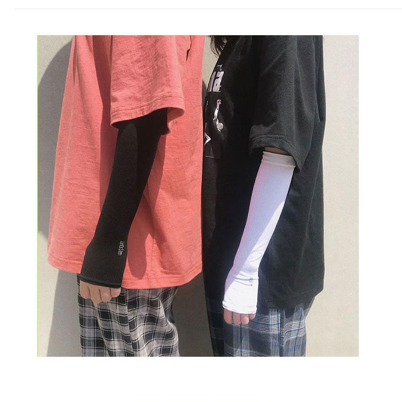 ワンポイント UVアームカバー 指ぬき 冷房対策 UVカット ずれない 紫外線対策 冷房対策 冷え 涼しい ユニセックス レディース メンズ 無地 シンプル 可愛い 日焼け 冷感素材 指穴あり  農作業 手首 手の甲  登山 夏 春  ゴルフ