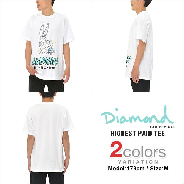 DIAMOND SUPPLY CO × LOONEY TUNES Tシャツ HIGHEST PAID TEE