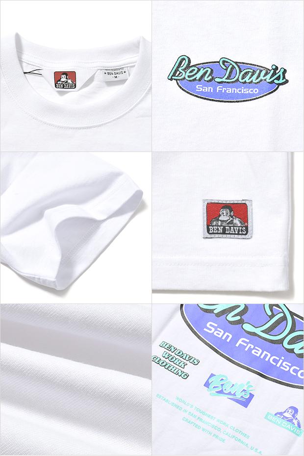 ベンデイビス Tシャツ BEN DAVIS OVAL LOGO TEE
