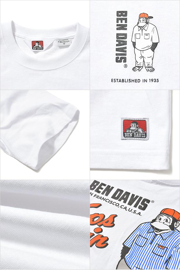ベンデイビス Tシャツ BEN DAVIS STAND GORILLA TEE