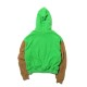 SWITCHING FLEECE ZIP UP HOODIE