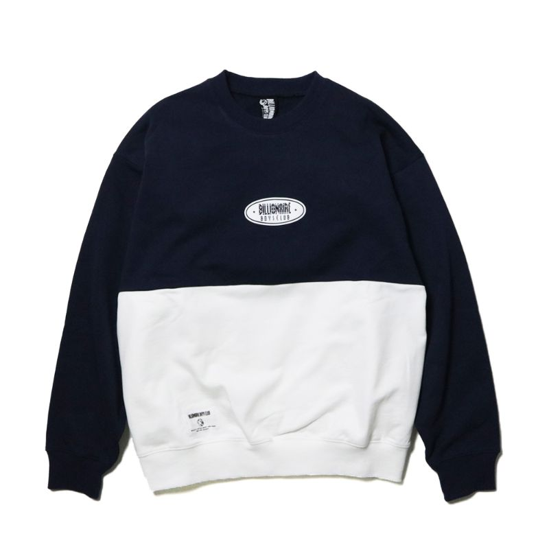 PUFF PRINT SWITCHING CREWNECK SWEATSHIRT