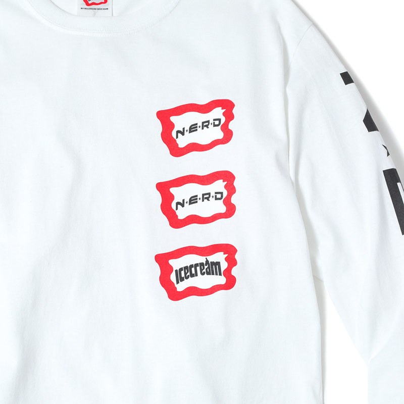 ICECREAM × N.E.R.D LOGO L/S T-SHIRTS (JP EXCLUSIVE)