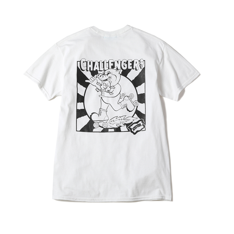 ICECREAM × CHALLENGER LOGO T-SHIRT (JP EXCLUSIVE)