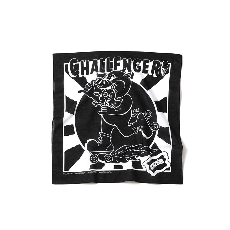 【30%OFF】 ICECREAM × CHALLENGER BANDANA (JP EXCLUSIVE)