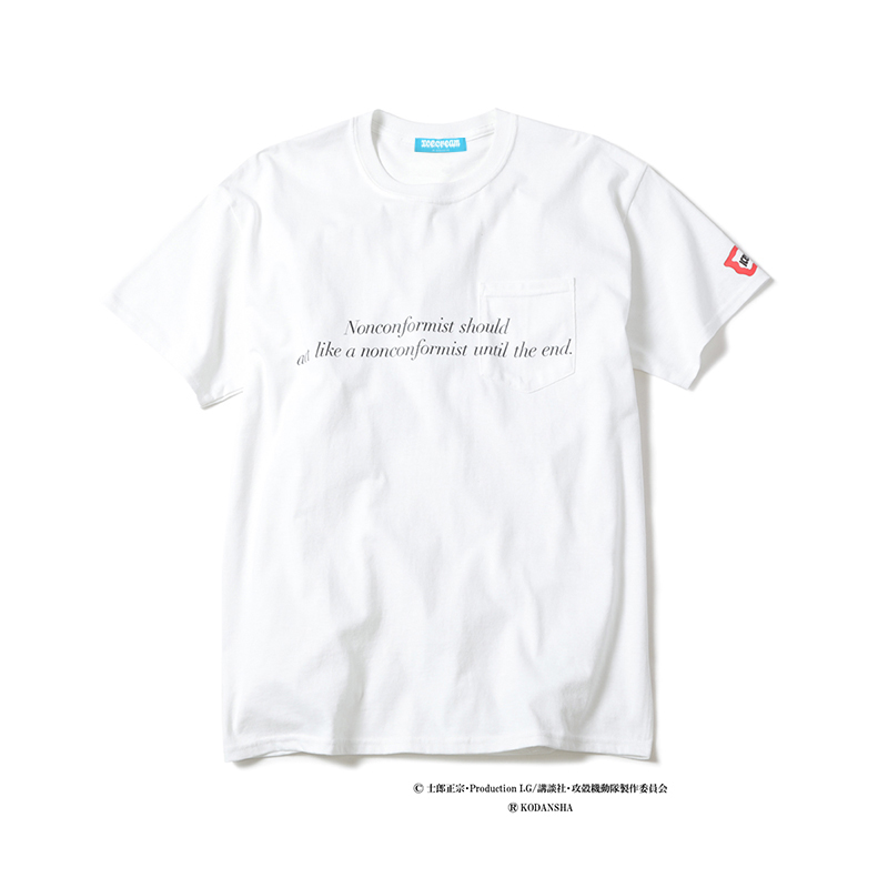 ICECREAMxGhost in the Shell: Stand Alone Complex TACHIKOMA POCKET T-SHIRT