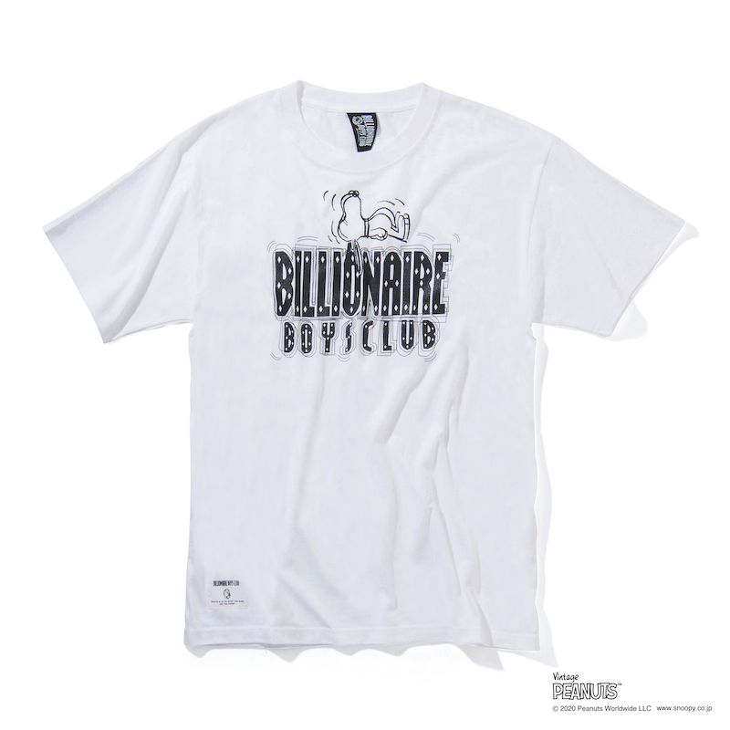 SNOOPY & STRAIGHT LOGO T-SHIRT_ BILLIONAIRE BOYS CLUB × PEANUTS