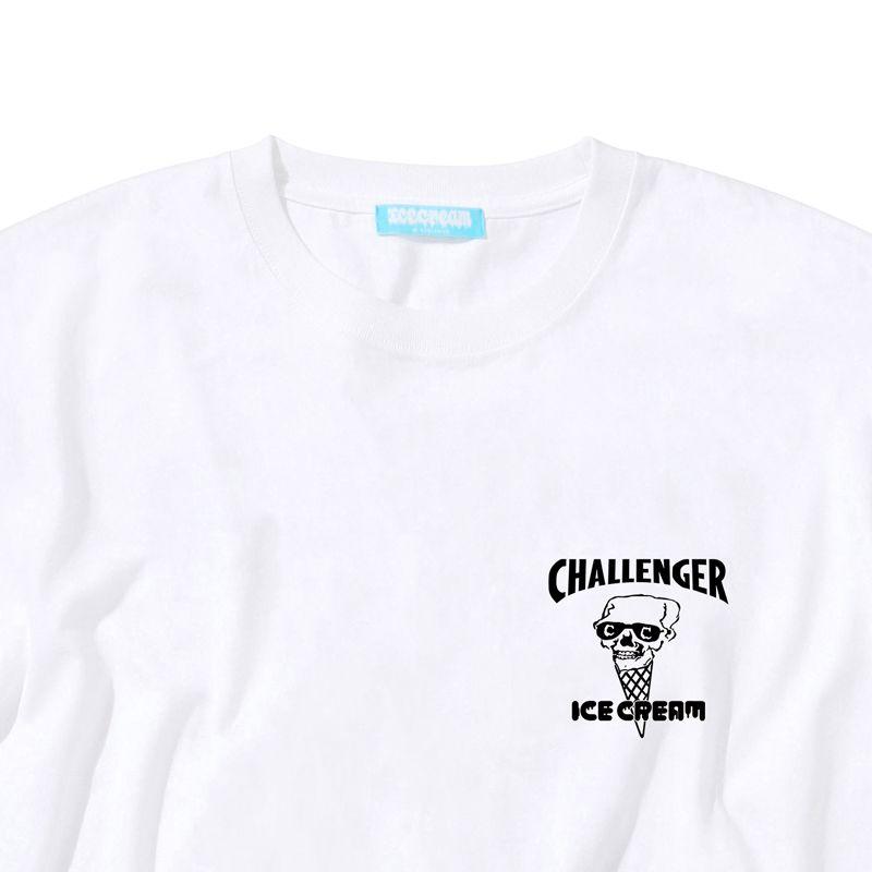 ICECREAM × CHALLENGER SKULL T-SHIRT