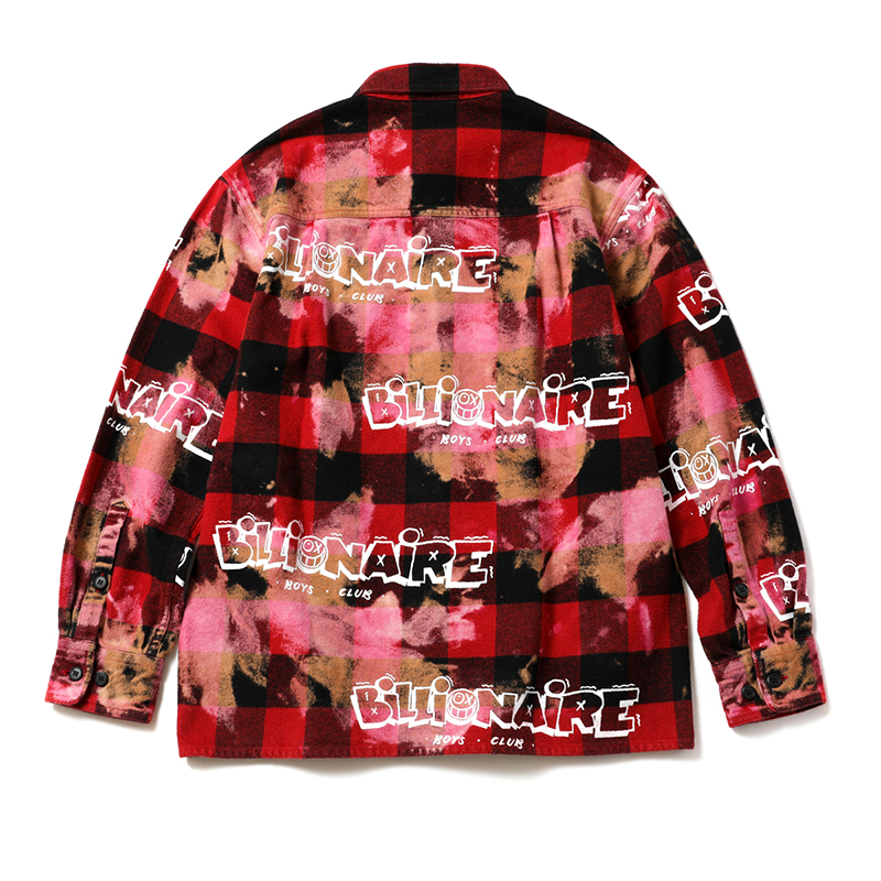 【30%OFF】 BILLIONAIRE BOYS CLUB × ANDRE SARAIVA HEAVYWEIGHT FLANNEL BLEACH CHECK SHIRT JACKET (JP EXCLUSIVE)