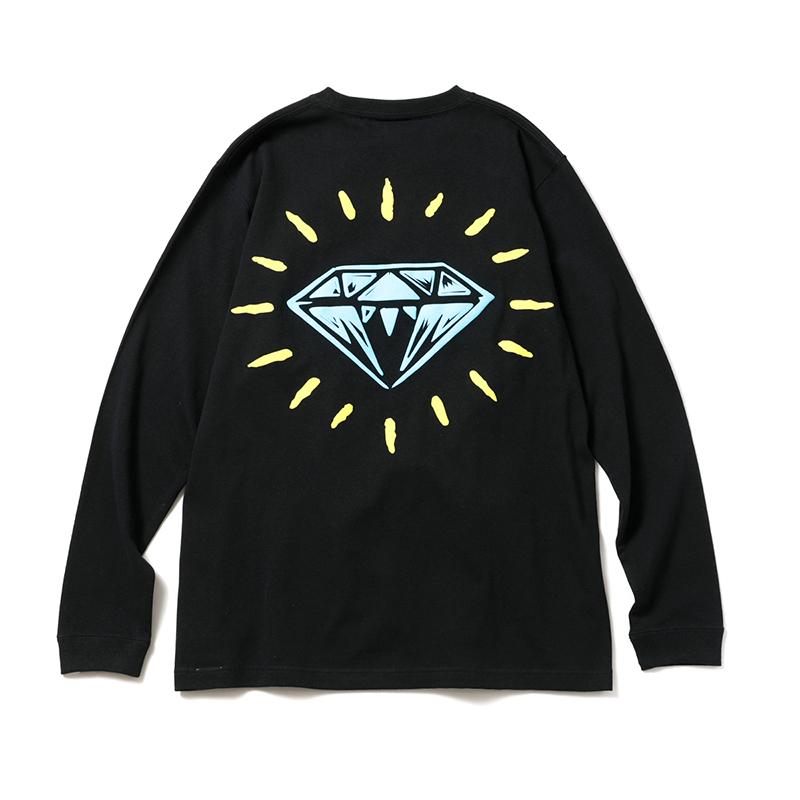DIAMOND PUFF PRINT L/S T-SHIRT