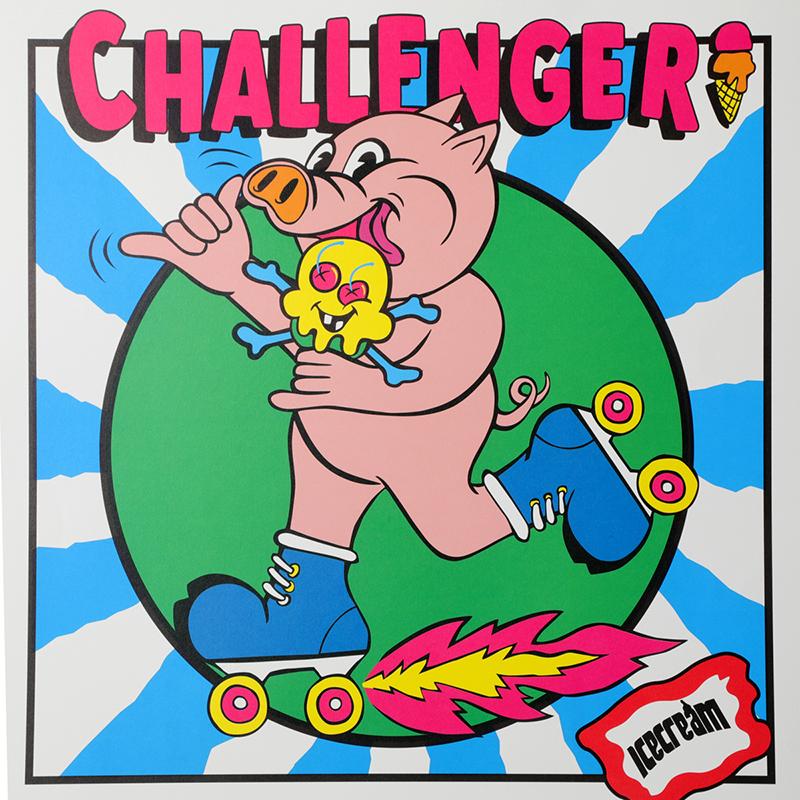 【30%OFF】ICECREAM × CHALLENGER POSTER (JP EXCLUSIVE)