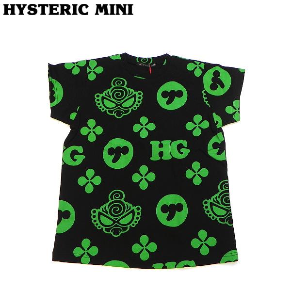 Hysteric mini ヒステリックミニ 19春夏 MONOGRAM総柄 コーマ天竺BIG半袖Tシャツ 100cm 110cm h19241170a