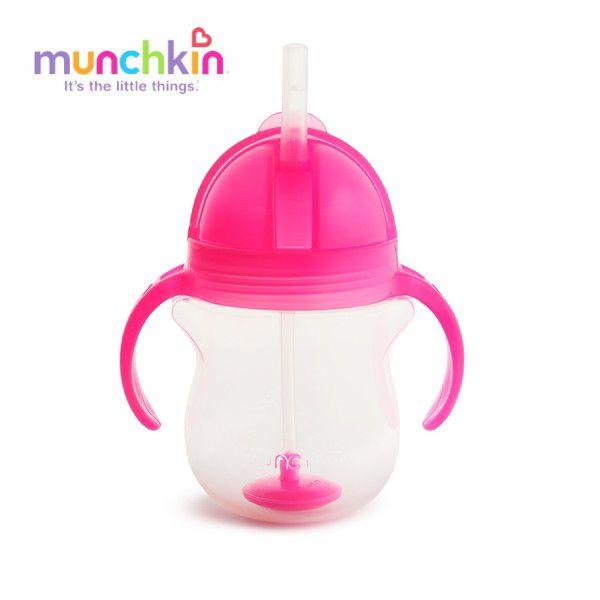 munchkin マンチキン クリック・ウェイトストローマグ/ピンク 735282109898