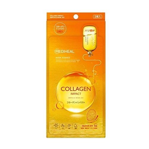 韓国コスメ [Mediheal/メディヒール] コラーゲンインパクトアンプルマスクJEX 3枚入り     sMHmask-Collagen