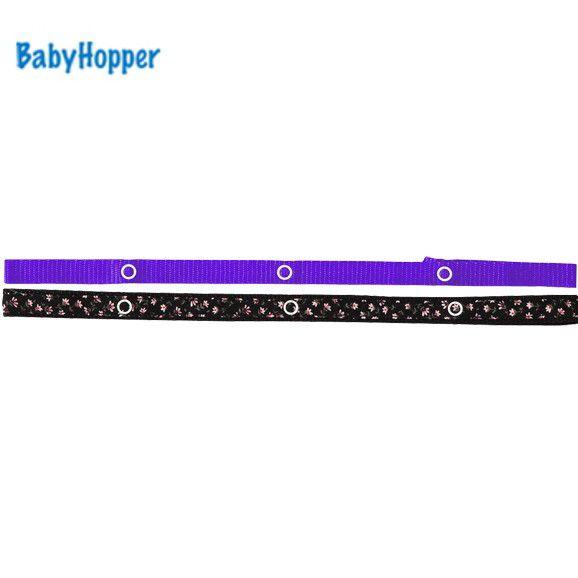 BabyHopper ベビーホッパー BHテキスタイル・トイ・ストラップ/ブラックフラワー 4943169020174