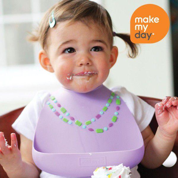 make my day メイクマイデイ シリコンビブ お食事エプロン ベビー mmdBB