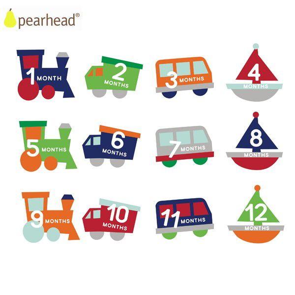 pearhead ペアヘッド ベビー・ベリーステッカー/ライドオン 698904730125